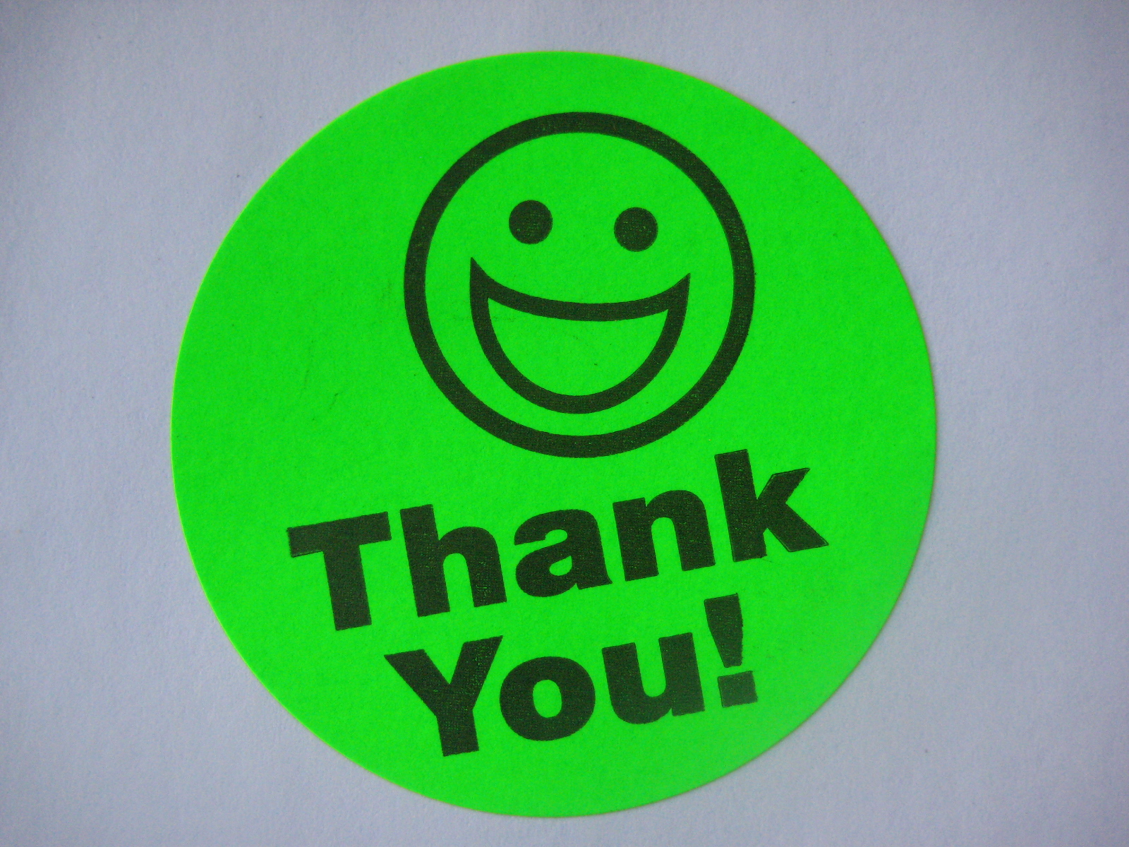 Usps Return Label >> 250 BIG THANK YOU SMILEY LABEL STICKERS green | eBay